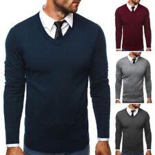 Herren-Pullover mit V-Ausschnitt