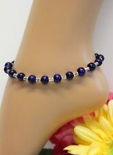 Glass Jewels Gold Fußkettchen Fußkette Blau Bunt Perlen Boho Hippie #K099