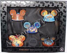 New Disney Parks Fantasia Mickey Ear Hat Christmas Tree Ornament Set of 5