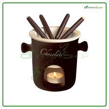 Servizio 7 pezzi fonduta cioccolato  ceramica EX-60287