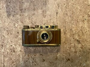 "russische ""Leica"" II Kamera 1:3.5/50mm Elmar Gold"