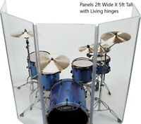Drum Shield DS4 L 5 Section Acrylic Drum Panels with Flexible Hinges W/CARRY BAG