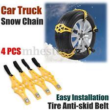 4pcs/set Truck Car Snow Wheel TPU Chains Winter Tire Anti-skid Belt Yellow NEW
