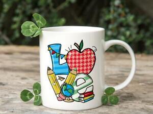Love School Mug - Back To School Gifts For Teacher - Teacher Gift - Teacher Mug