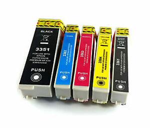 Set of 5 Compatible Epson 33XL (T3357) High Yield Inkjet Cartridge