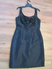 REVIEW, LIGHT WEIGHT BLACK DRESS, WITH SILK BOW SIZE 10