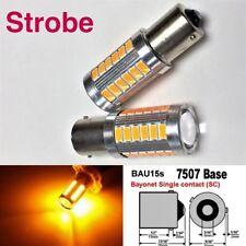Strobe 7507 BAU15S PY21W 33 LED Projector Amber Bulb Front Signal B1 #12