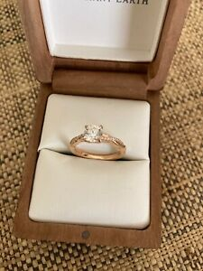 Brilliant Earth petite twisted vine rose gold engagement ring- .71 carat