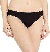 Seafolly Women's 188594 Inka Rib Black Hipster Bikini Bottom Swimwear Size 6