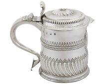 Antique William III Britannia Standard Silver Quart Tankard