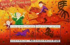 Australia Christmas Island Year Of Horse 2002 Chinese Zodiac Lunar Farm (ms) MNH
