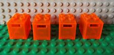 4 LEGO Container Letter Post Mail Safe Box Trans Neon Orange 4345/4346