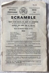 Collectable Vintage Scramble West Stow Heath, Bury St Edmunds Programme 1967
