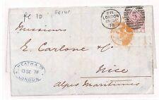 BB105 1878 GB London France Nice Cover {samwells-covers}PTS
