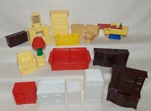 Vintage 1960's Marx Dollhouse Doll Furniture Plastic Sewing Machine Kitchen Lot