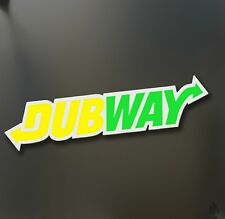 Dubway sticker fits VW racing dubs Honda JDM Funny drift car WRX window decal