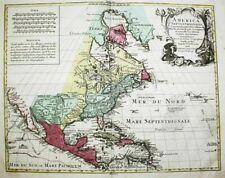 North America Nordamerika Amerika Karte map Delisle Lotter Kupferstich engraving
