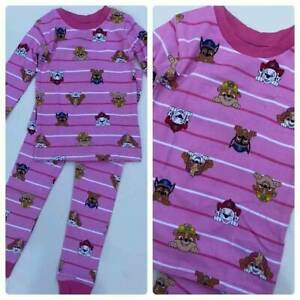 NEW BABY GAP Gap Kids Girl's 2 Piece PJ Pink Long Sleeve Paw Patrol Set 3T 3
