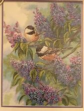 Dimensions Cross Stitch Kit Gold Collection CHICKADEES AND LILAC Birds12x16 NIP