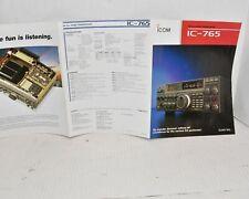 COLOR BROCHURE  - ICOM  IC-765 HF All-Band Radio Transceiver