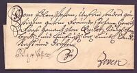 Altbrief Vorphilabrief 1725 nach Zeven bei Bremen an den Landrat Frese (229)