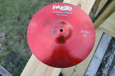 """Red Paiste Color Sound 5.  12"""" Splash Cymbal. Made in Switzerland."""