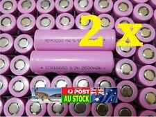 .2x 18650 True (Not Fake) 2500 mAh li-ion Rechargeable FLAT HEAD Top Battery AU