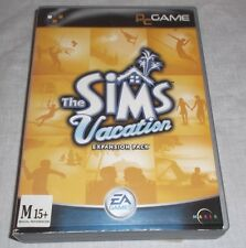 THE SIMS VACATION EXPANSION PACK PC GAME FAT BOX