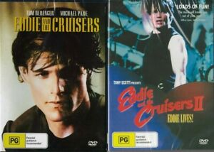 EDDIE AND THE CRUISERS 1 & 2  -  2 NEW & SEALED DVDS - FREE LOCAL POST