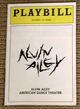 ALVIN AILEY Academy of Music 1987 Playbill American Dance Celebration Theater