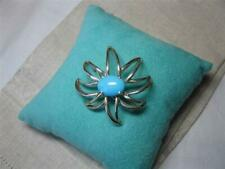 Tiffany Persian Turquoise Fireworks Brooch Pin Original Box Pouch Rare Vintage