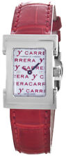 Carrera Y Carrera Mother of Pearl Dial Red Leather Band Women's Watch