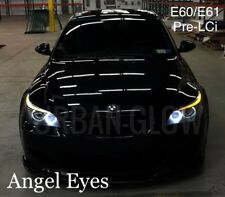 BMW 5 Series Pre LCi E60 E61 Blanco Brillante Led Ojo De Angel halo anillo Bulbos
