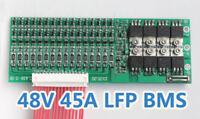 48V 45A LiFePo4 Battery BMS LFP PCM SMT System 16S 16x 3.2V eBike Battery 16x 3V