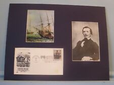The CSS Alabama vs.the USS Kearsarge & First Day Cover for Raphael Semmes