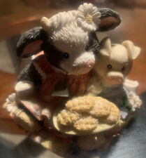 """Enesco Mary's Moo Moos Cow Figurine """"Cookies Are For Sharing� #627739 1993 Mint"""