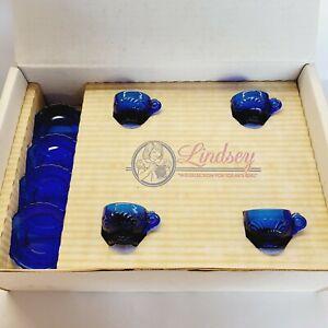 Mosser Glass Miniatures-Lindsey Set #2 in Cobalt Blue