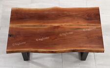 "Wood Tea Kitchen Dining Coffee Desk Table Black Walnut 59"" Long Modern Funiture"