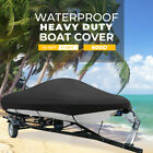 14-16 Ft 17-19 Ft 600d Waterproof Trailerable Boat Cover V-hull Fish Ski Bass