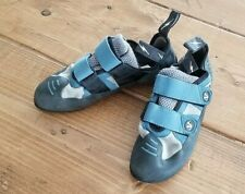 Evolv Rock Mountain Climbing Shoes Us 7.5 Women's Vtr 3D Trax- Xt5 Blue & Black