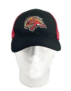 FLORIDA FIRE FROGS Red Black Baseball Hat ATLANTA BRAVES Minor League ADJUSTABLE