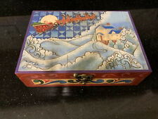 Jim Shore Set Of Santa Claus Ornaments in Wooden Collectors Box-40009