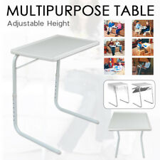 Foldable Table Laptop Adjustable Tray Portable Folding Desk Bed Mate TV Dinner