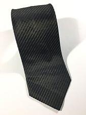 """Stone Henge Black Neck Tie - Sz W 3 3/4"""" L 56"""" 100% Silk M.I. USA"""