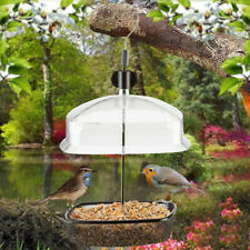 Height Adjustable Hanging Wild Bird Feeder Station Baffle Dome Peanut Seed Feed