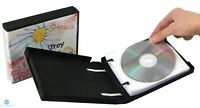1 CD DVD Unikeep Binder holds 10 Discs Black with White Wallets / Sleeves NEW HQ