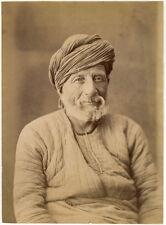 Photo Albuminé Paysan Turc Turquie Vers 1880