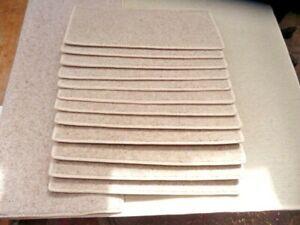 45 X 22 cm 12x STAIR PADS 80% WOOL TWIST PILE heavy quality CARPET #3257