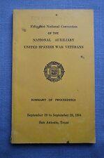 51st National Convention, United Spanish War Veterans, San Antonio, Texas, 1954