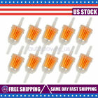 """10PCS Motor Inline Gas Oil Fuel Filter Small Engine For 1/4'' 5/16"""" Line US"""